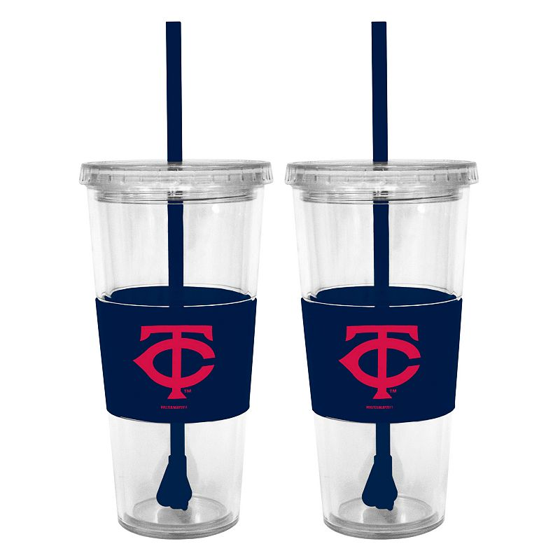 Minnesota Twins 2-pc. Double-Walled Straw Tumbler Set