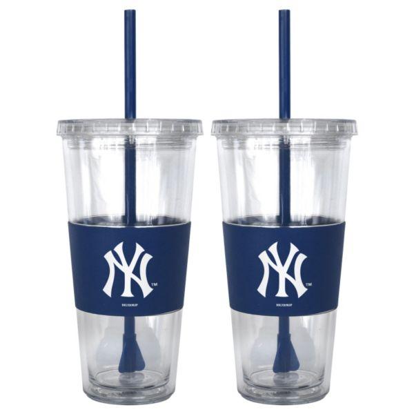 New York Yankees 2-pc. Double-Walled Straw Tumbler Set