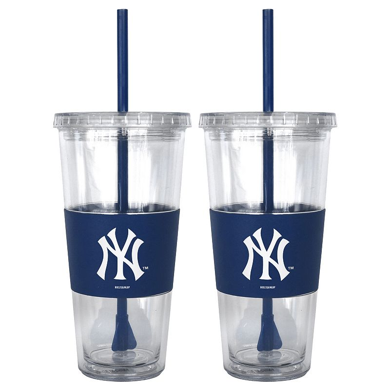 New York Yankees 2-pc. Double-Walled Straw Tumbler Set