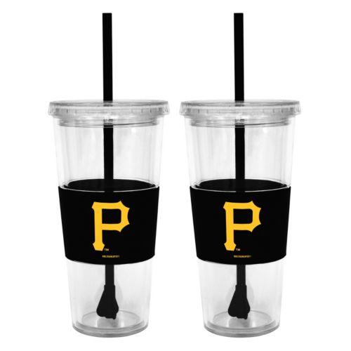 Pittsburgh Pirates 2-pc. Double-Walled Straw Tumbler Set
