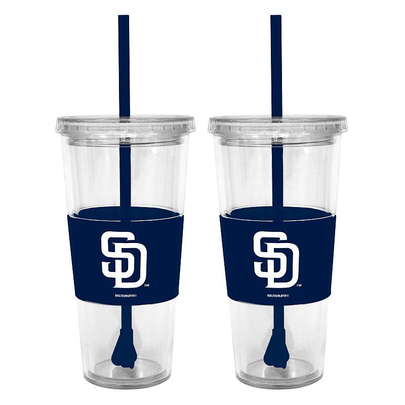 San Diego Padres 2-pc. Double-Walled Straw Tumbler Set