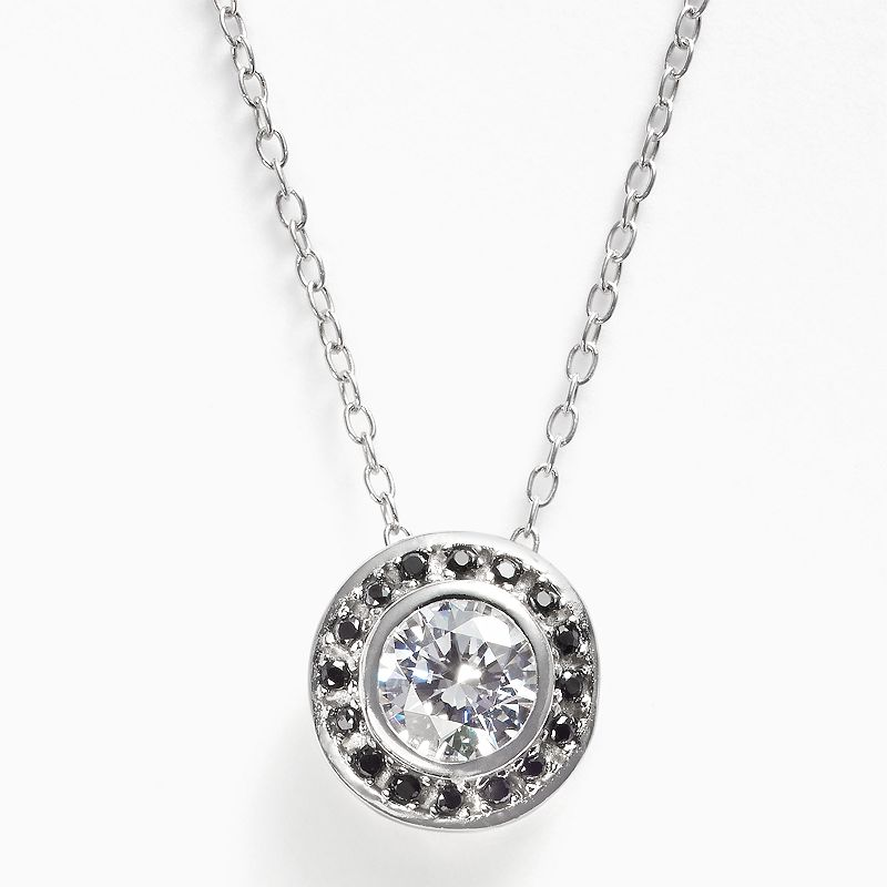Sunstone 925 Sterling Silver Halo Pendant - Made with Swarovski Zirconia