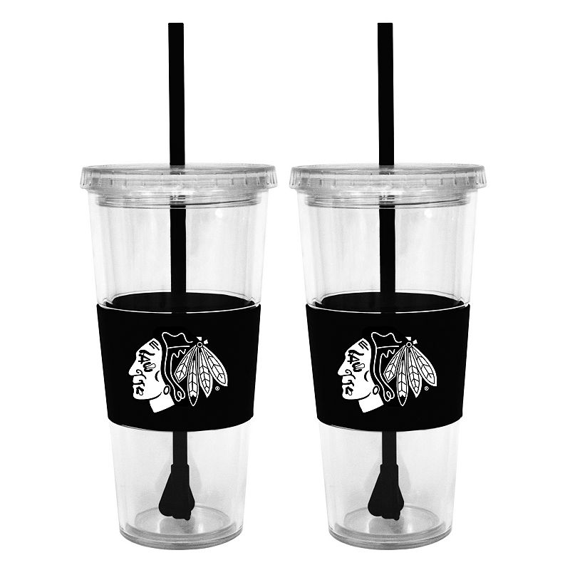 Chicago Blackhawks 2-pc. Double-Walled Straw Tumbler Set