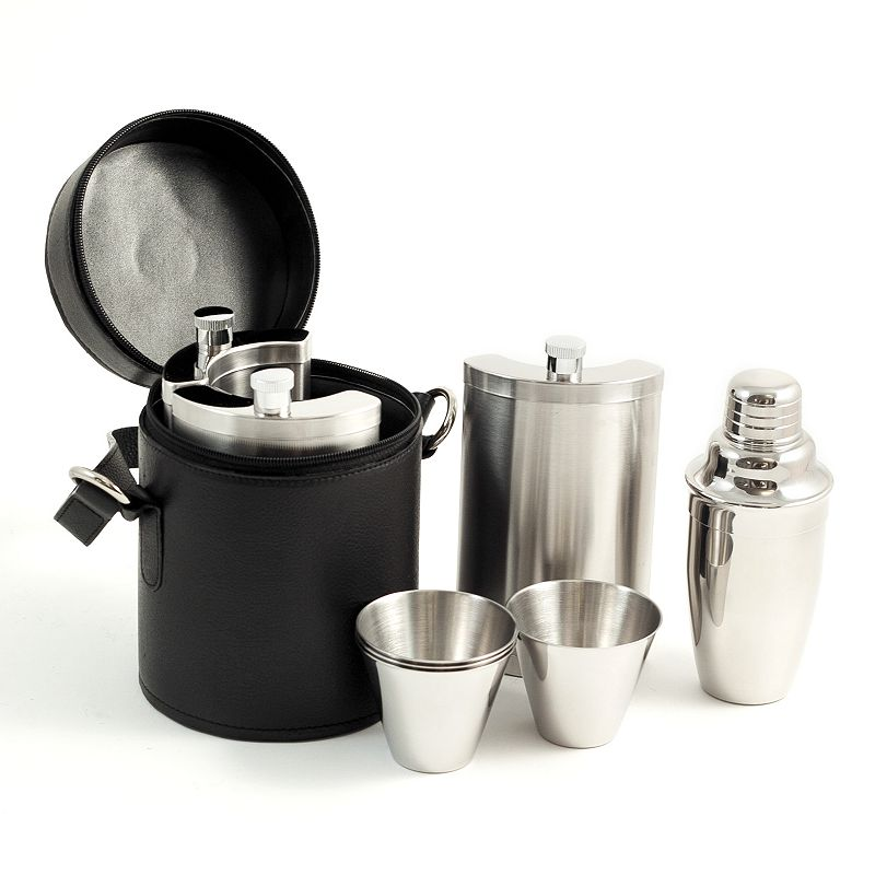 Curved 10-pc. Stainless Steel Bar Set