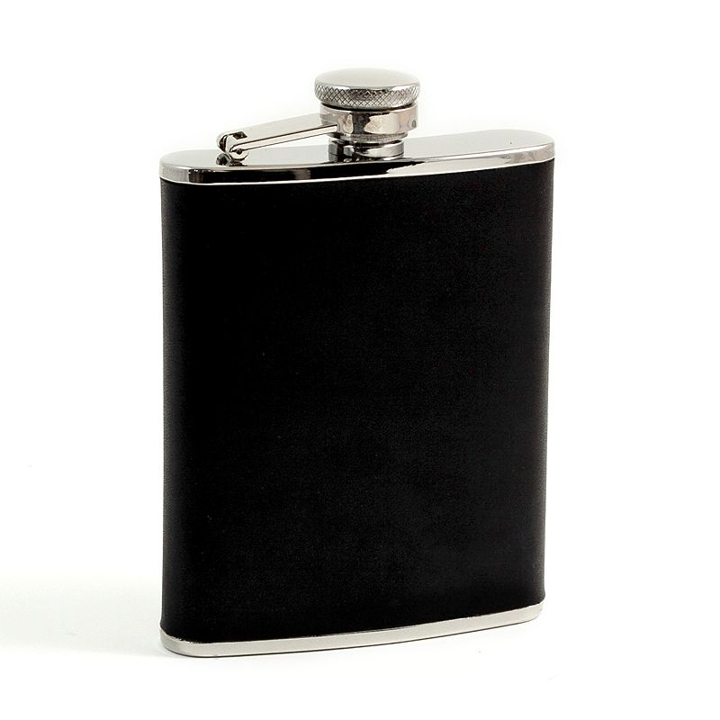 Bey-Berk Leather-Wrapped Flask