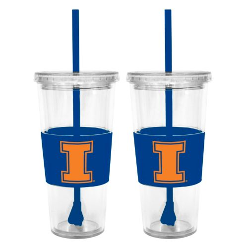 Illinois Fighting Illini 2-pc. Double-Walled Straw Tumbler Set