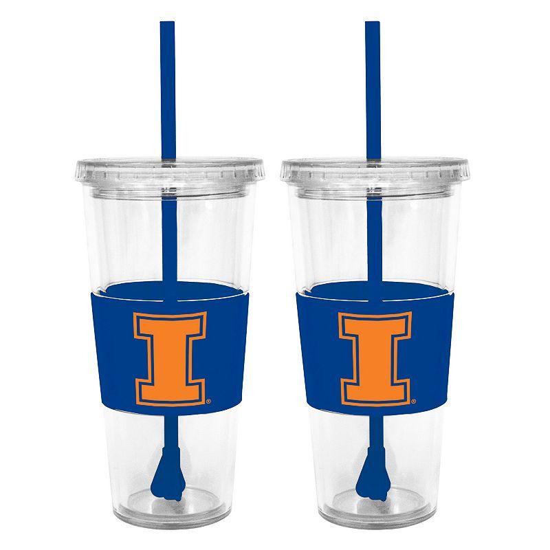 Illinois Fighting Illini 2-pc. Double-Walled Straw Tumbler Set