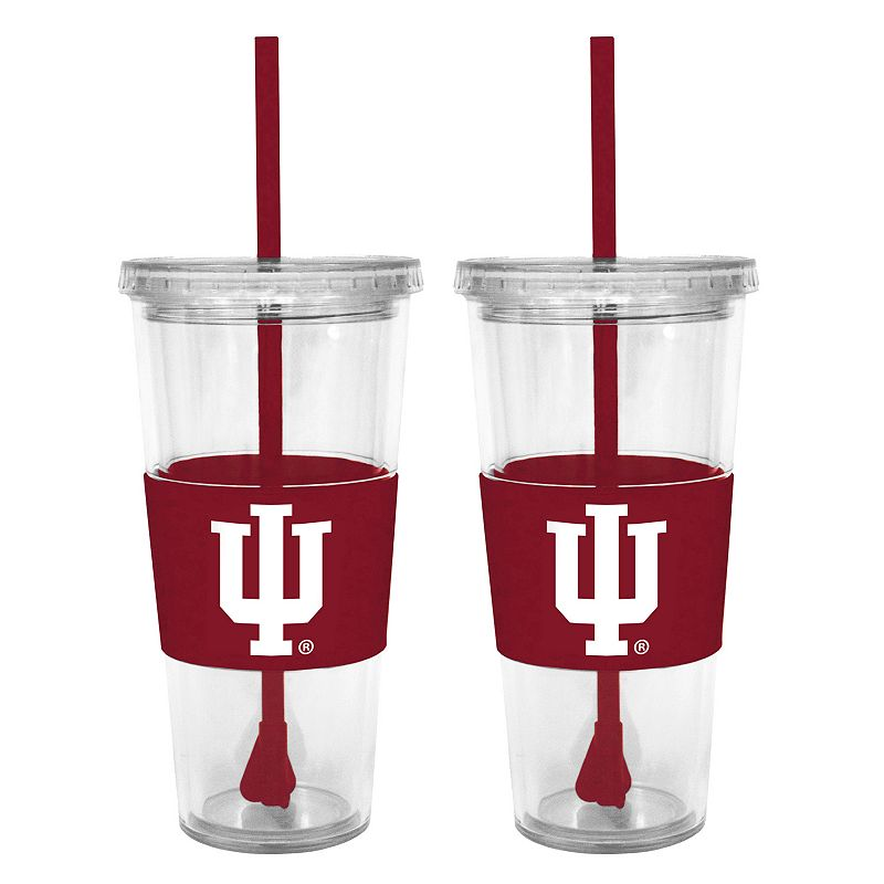 Indiana Hoosiers 2-pc. Double-Walled Straw Tumbler Set