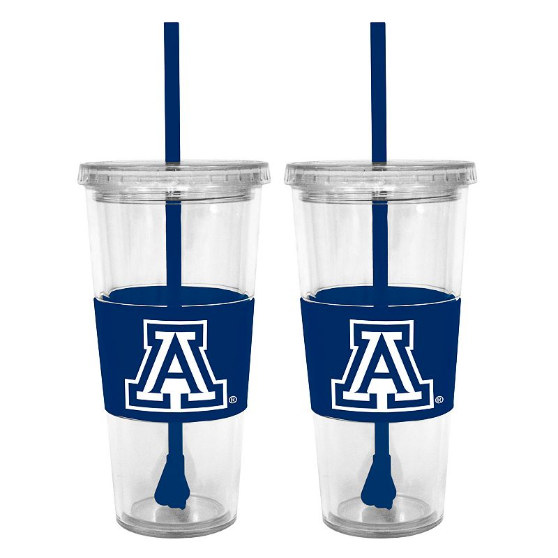 Arizona Wildcats 2-pc. Double-Walled Straw Tumbler Set