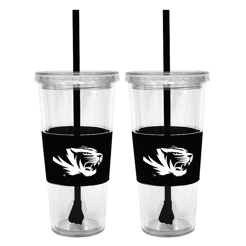 Missouri Tigers 2-pc. Double-Walled Straw Tumbler Set