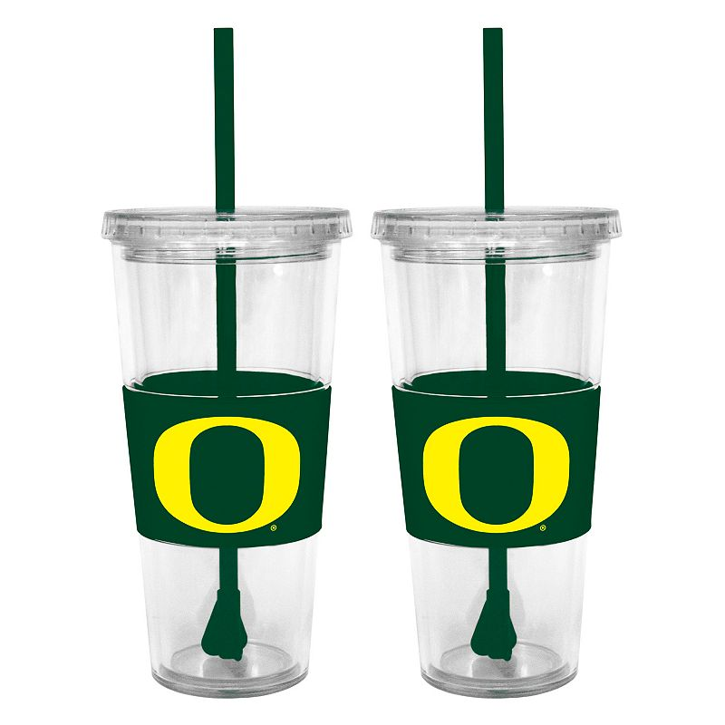 Oregon Ducks 2-pc. Double-Walled Straw Tumbler Set