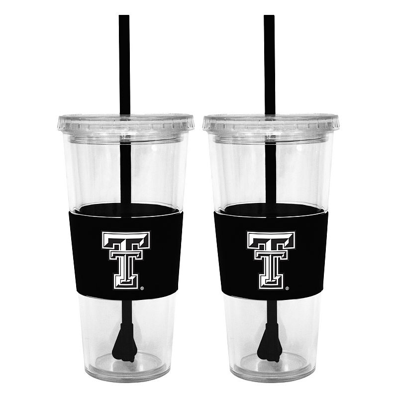 Texas Tech Red Raiders 2-pc. Double-Walled Straw Tumbler Set