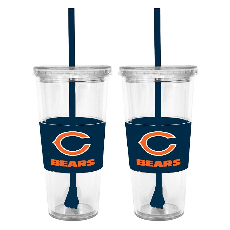 Chicago Bears 2-pc. Double-Walled Straw Tumbler Set