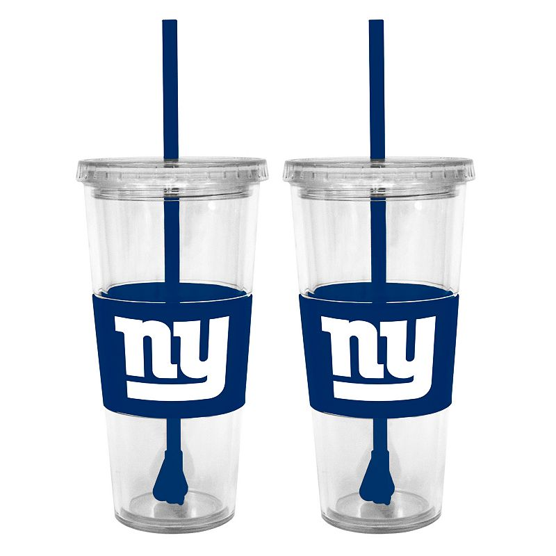 New York Giants 2-pc. Double-Walled Straw Tumbler Set