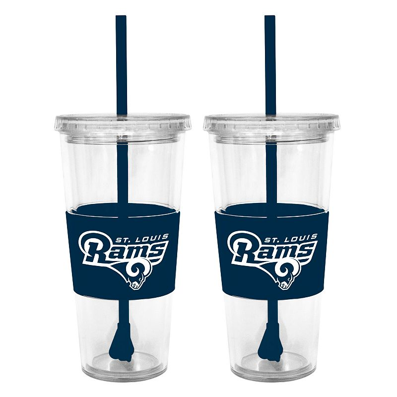 St. Louis Rams 2-pc. Double-Walled Straw Tumbler Set