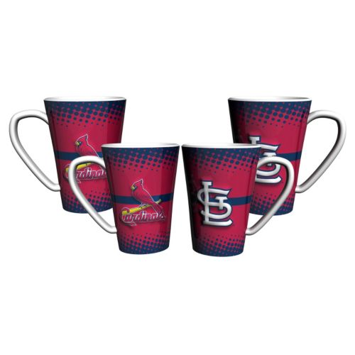 St. Louis Cardinals 4-Pack Ceramic Latte Mug Set