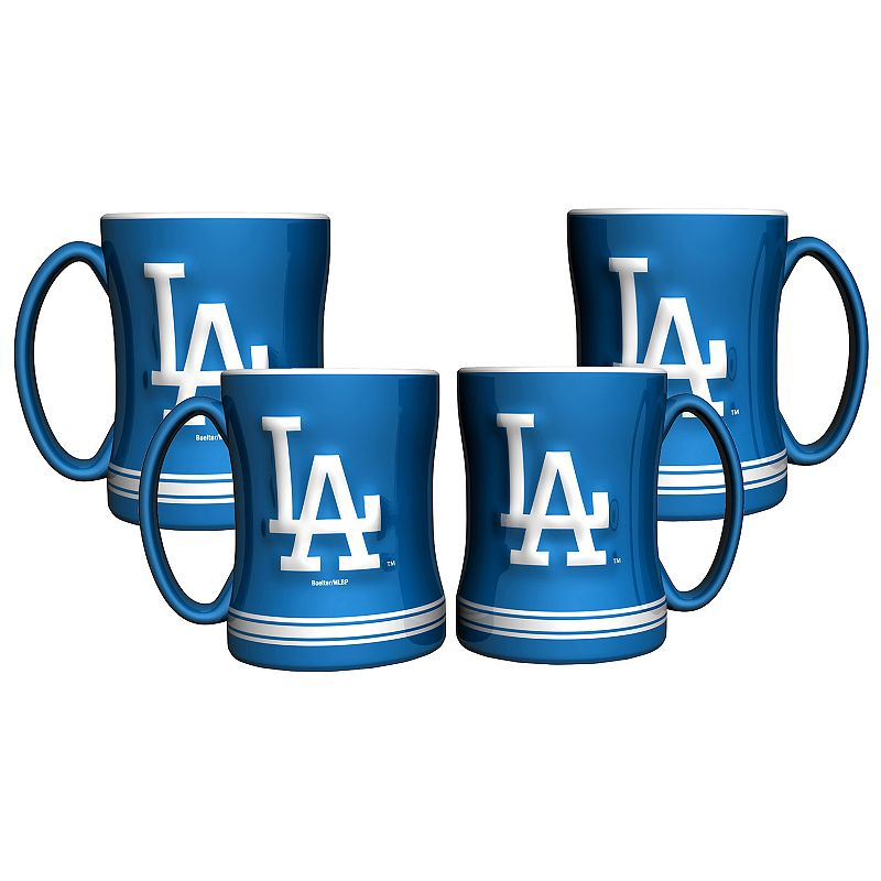 Los Angeles Dodgers 4-pk. Sculpted Relief Mug