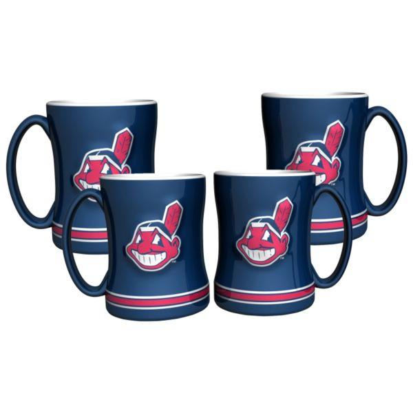 Cleveland Indians 4-pk. Sculpted Relief Mug