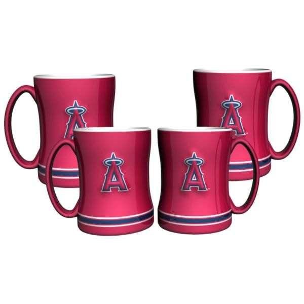 Los Angeles Angels of Anaheim 4-pk. Sculpted Relief Mug