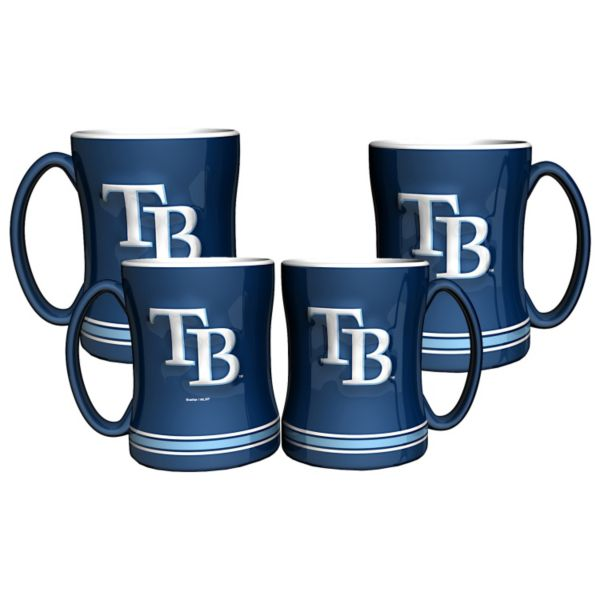 Tampa Bay Rays 4-pk. Sculpted Relief Mug