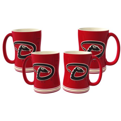 Arizona Diamondbacks 4-pk. Sculpted Relief Mug