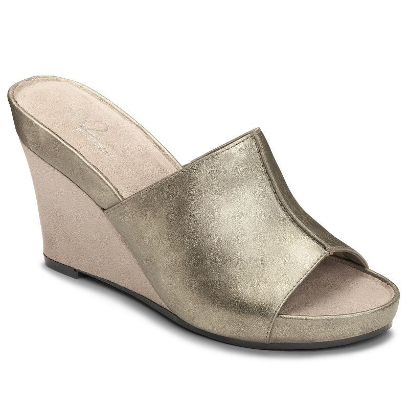 A2 by Aerosoles Heart Plush Women's Peep-Toe Wedge Sandals
