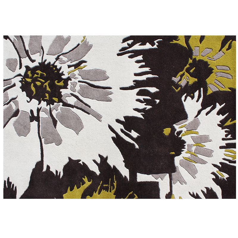 Alliyah Rugs ZnZ Abstract Floral Rug - 5' x 8'