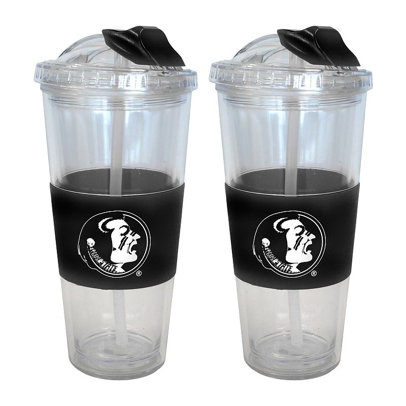 Florida State Seminoles 2-pk. No-Spill Tumblers With Straws