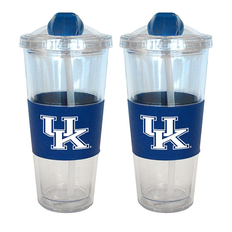 Kentucky Wildcats 2-pk. No-Spill Tumblers With Straws