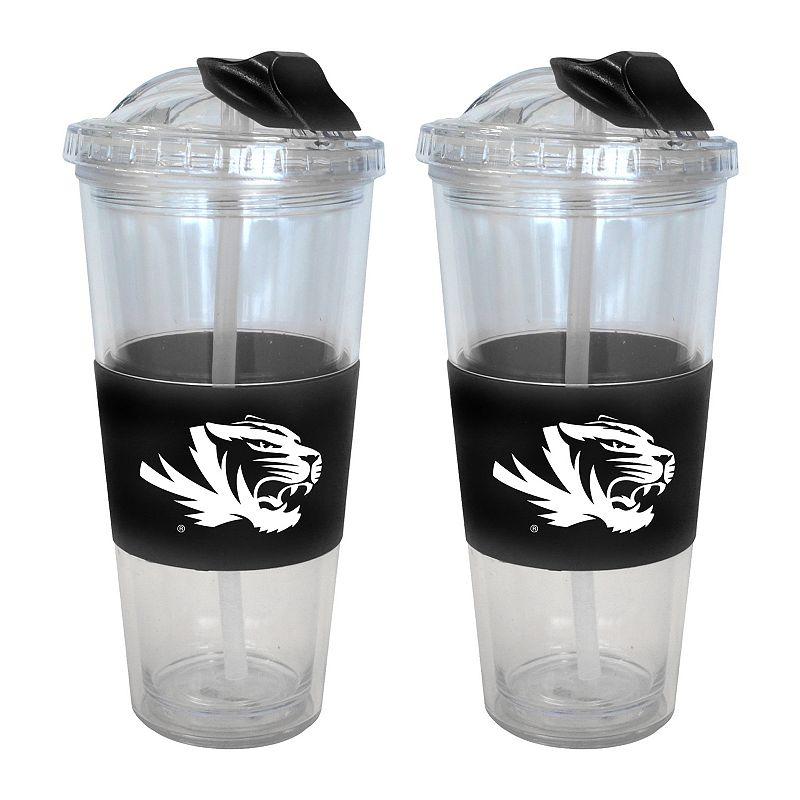 Missouri Tigers 2-pk. No-Spill Tumblers With Straws