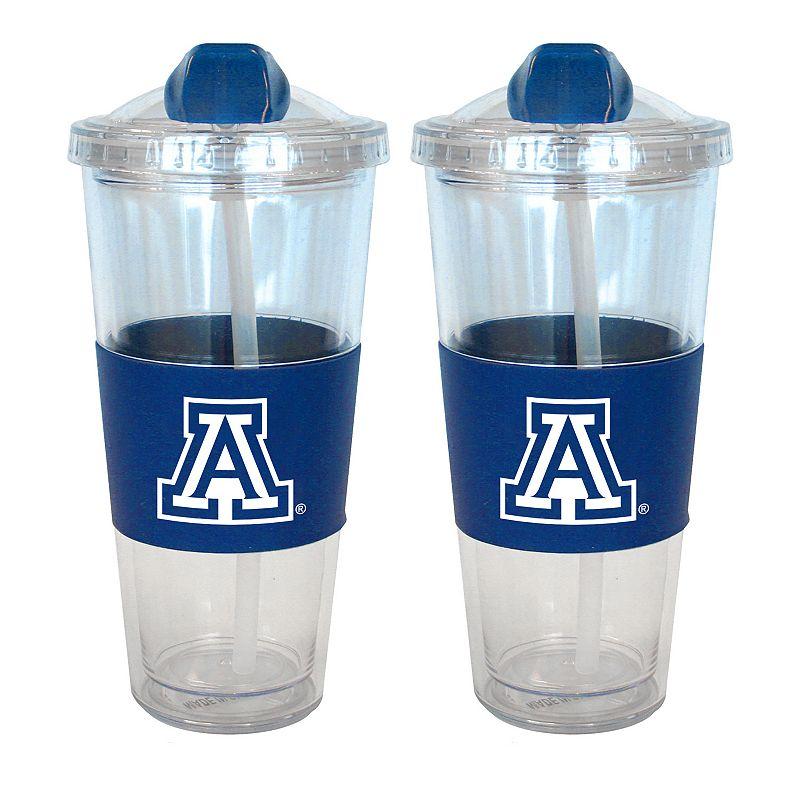 Arizona Wildcats 2-pk. No-Spill Tumblers With Straws