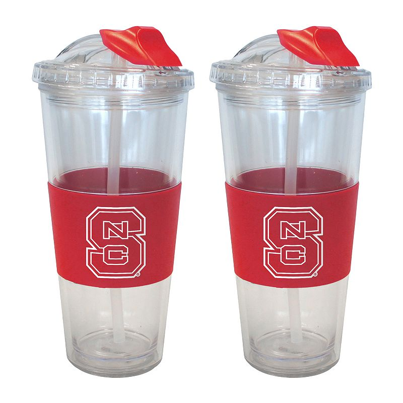 North Carolina State Wolfpack 2-pk. No-Spill Tumblers With Straws