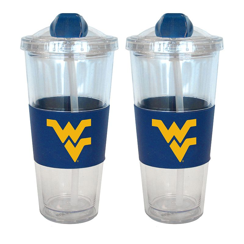 West Virginia Mountaineers 2-pk. No-Spill Tumblers With Straws
