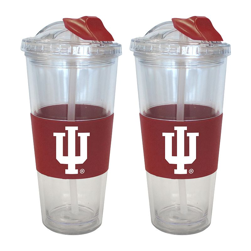 Indiana Hoosiers 2-pk. No-Spill Tumblers With Straws