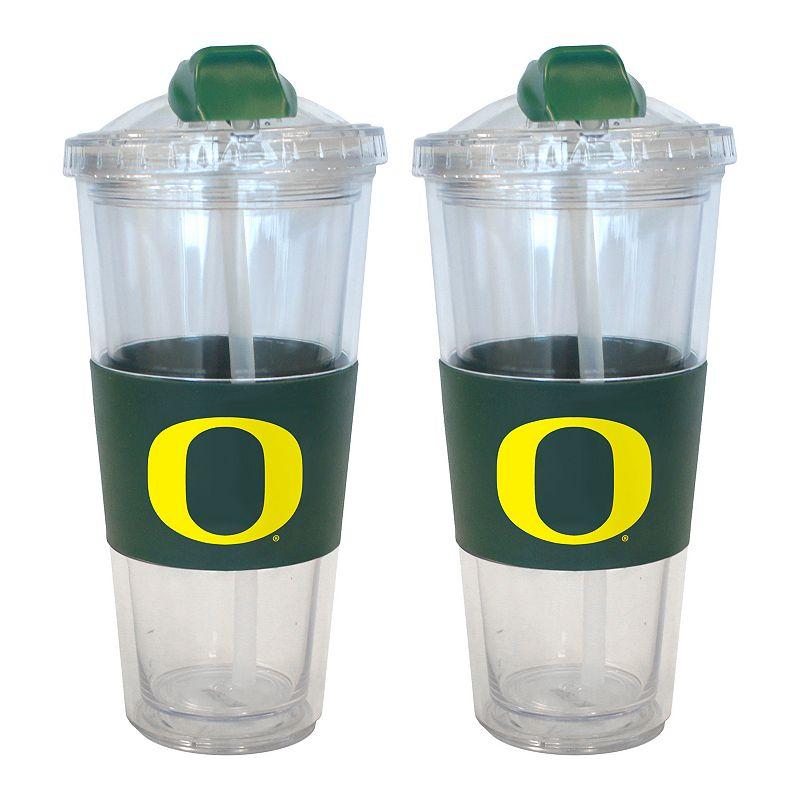 Oregon Ducks 2-pk. No-Spill Tumblers With Straws