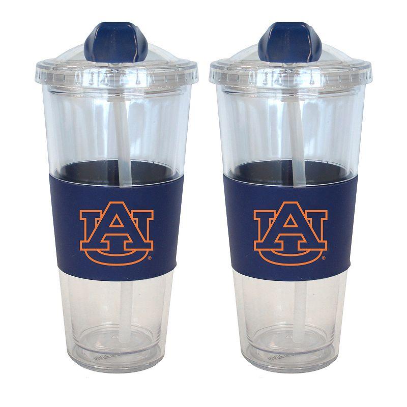 Auburn Tigers 2-pk. No-Spill Tumblers With Straws
