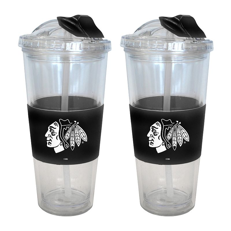 Chicago Blackhawks 2-pk. No-Spill Tumblers With Straws