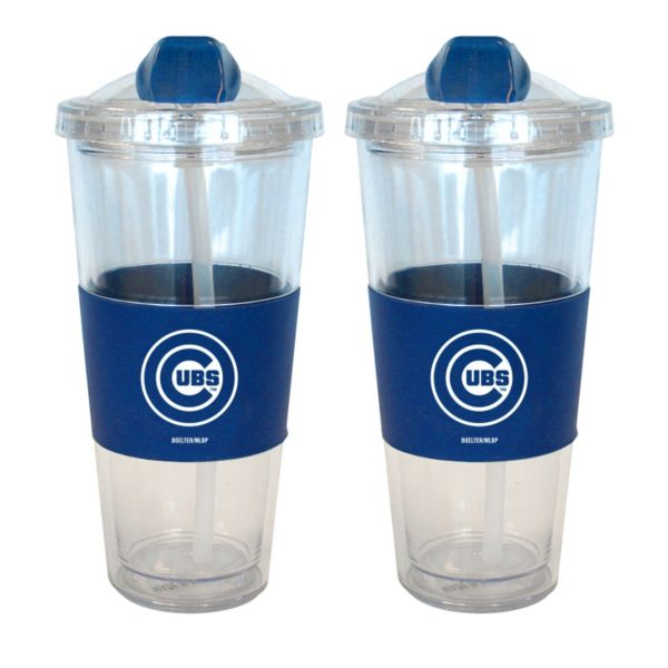 Chicago Cubs 2-pk. No-Spill Tumblers With Straws