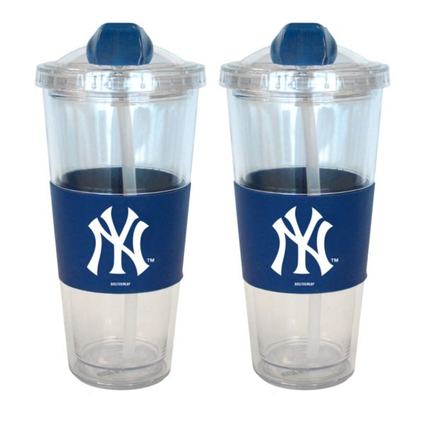 New York Yankees 2-pk. No-Spill Tumblers With Straws