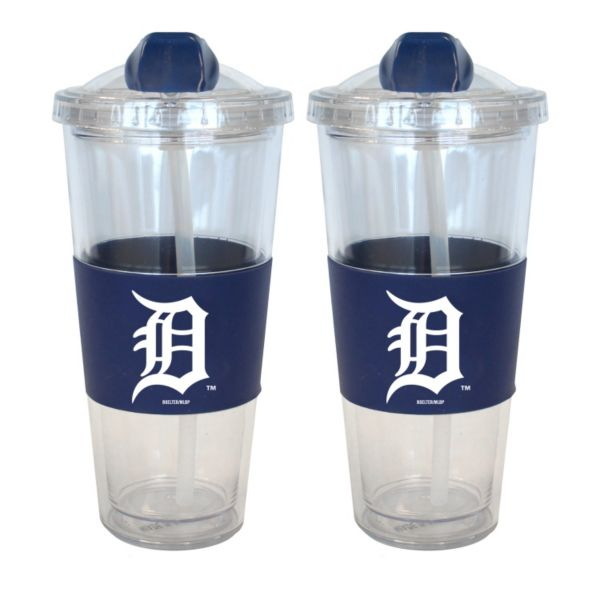 Detroit Tigers 2-pk. No-Spill Tumblers With Straws