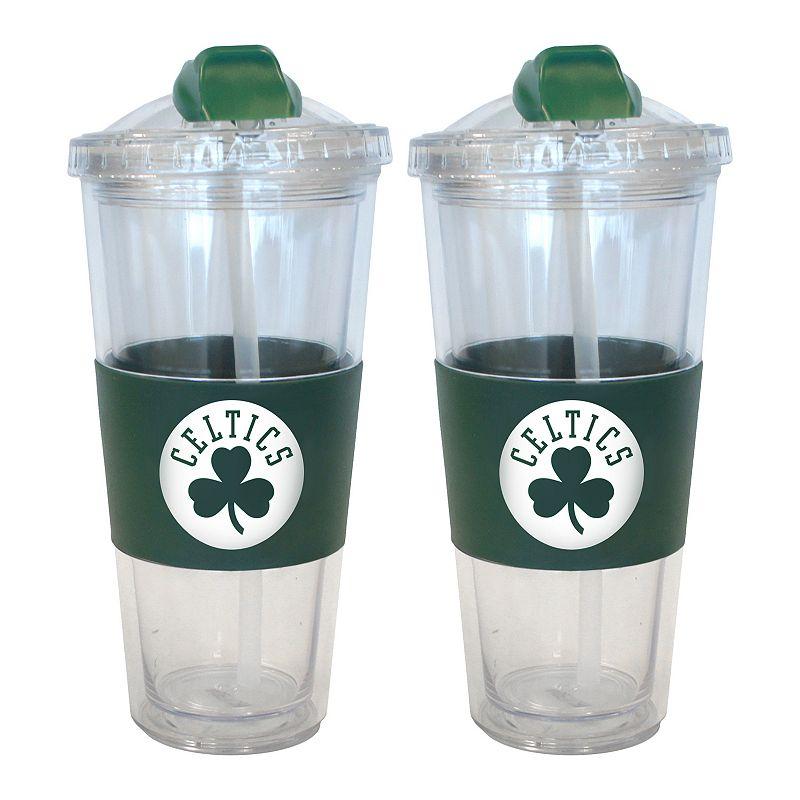 Boston Celtics 2-pk. No-Spill Tumblers With Straws