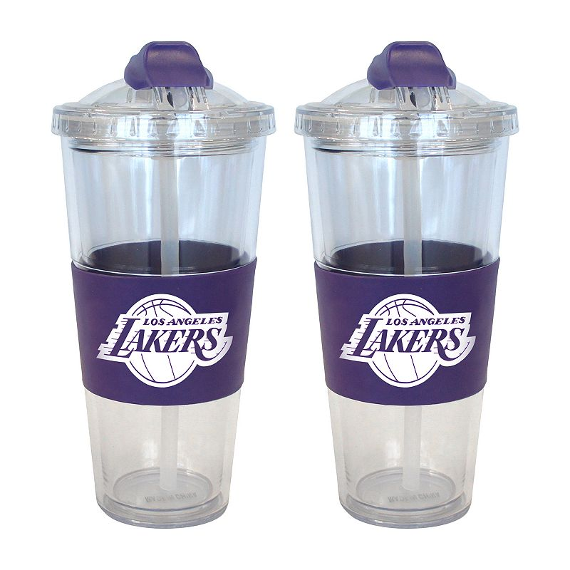 Los Angeles Lakers 2-pk. No-Spill Tumblers With Straws