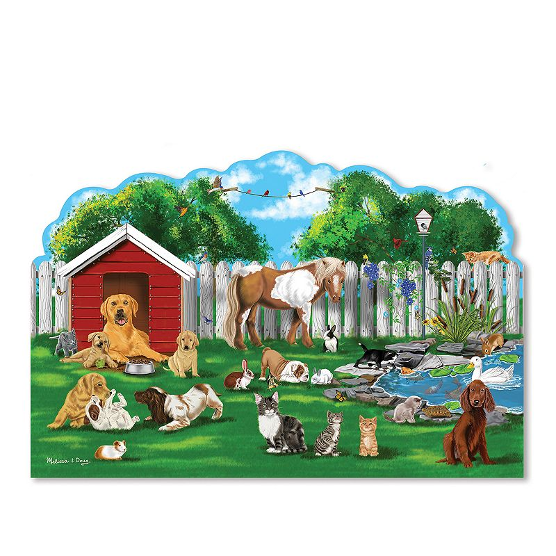 Melissa and Doug Pet Party Shaped 32-pc. Floor Puzzle