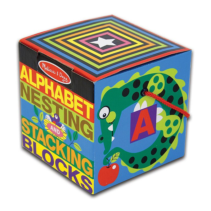 Melissa and Doug Alphabet Nesting and Stacking Blocks