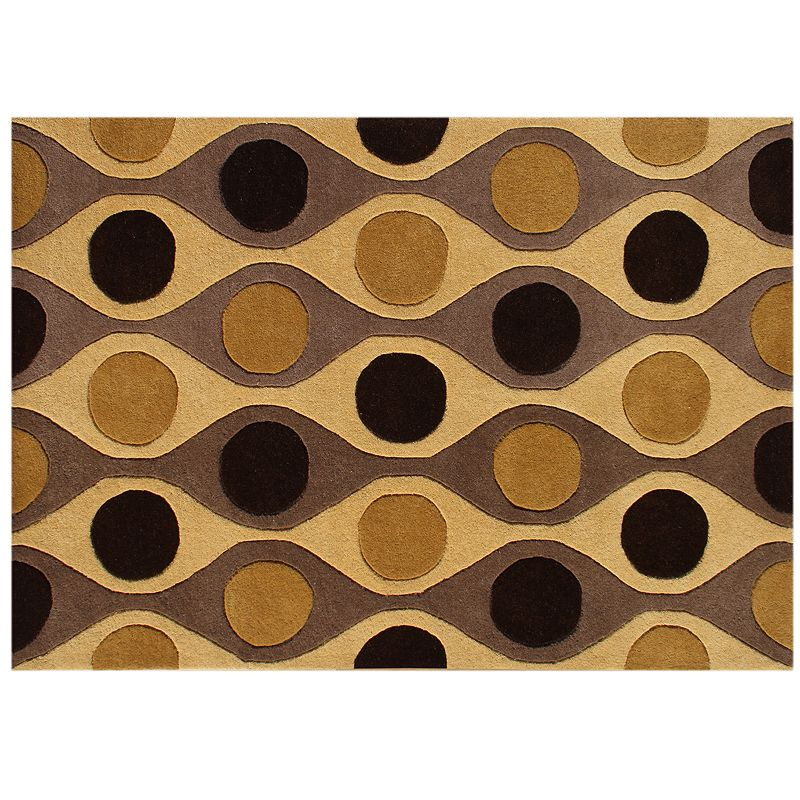 Alliyah Rugs ZnZ Geometric Wave Rug - 5' x 8'