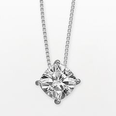 Forever Brilliant 14k White Gold Cushion-Cut 2-ct. T.W. Lab-Created Moissanite Pendant by