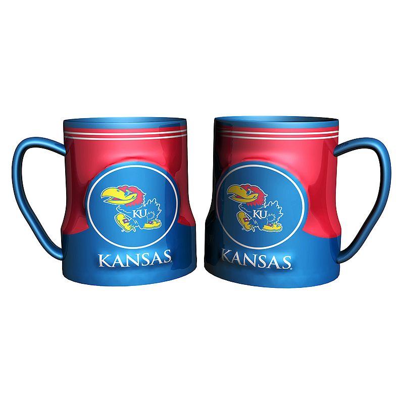 Kansas Jayhawks 2-pc. Ceramic Mug Set
