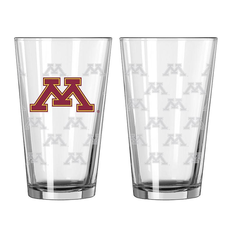 Minnesota Golden Gophers 2-pc. Pint Glass Set