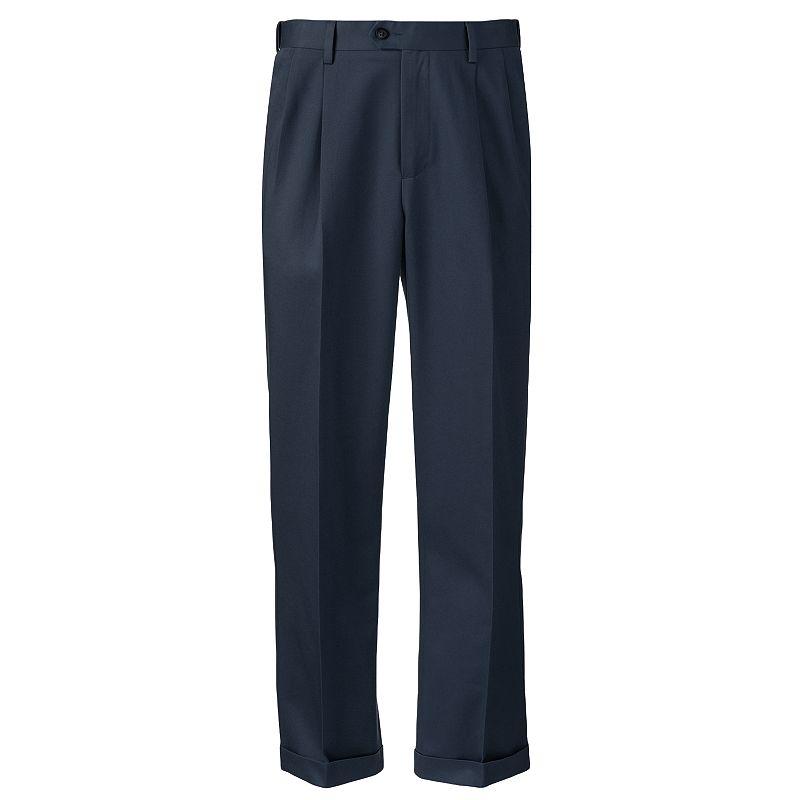 Men's Croft & Barrow® Classic-Fit No-Iron Pleated Pants