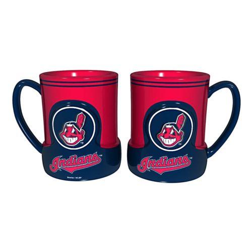 Cleveland Indians 2-pc. Raised Logo Ceramic Mug Set